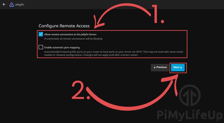 Configure Remote Access to your Raspberry Pi Jellyfin server