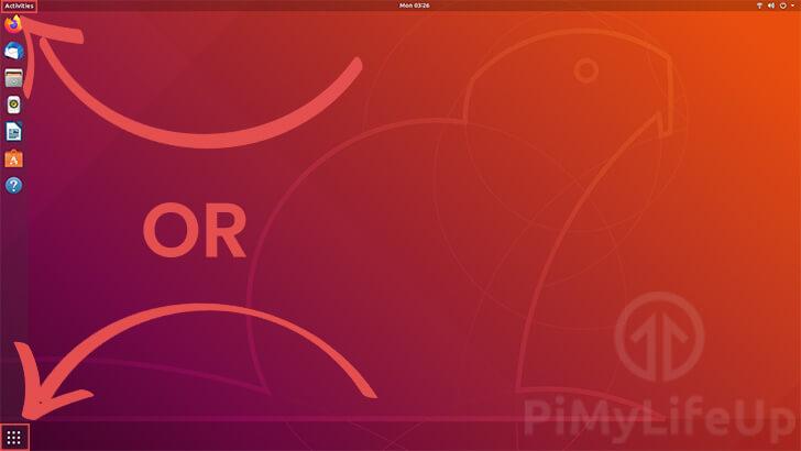 Opening Activities on Ubuntu 18.04