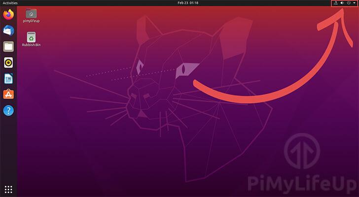 Ubuntu 20.04 Click Top Right Panel