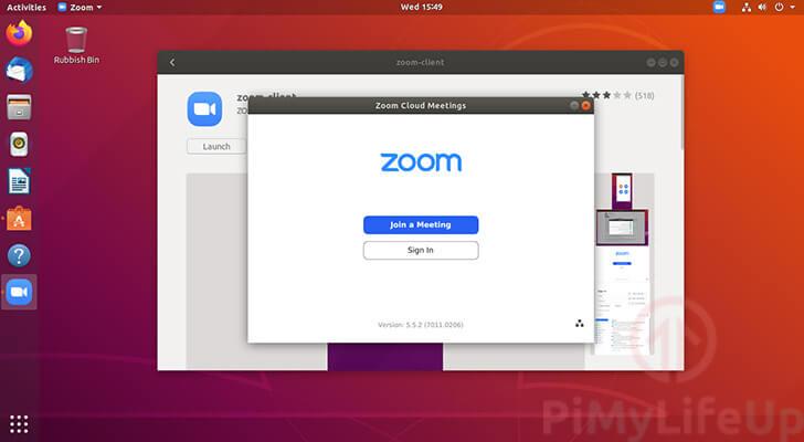 Zoom Successfully running on Ubuntu 18.04