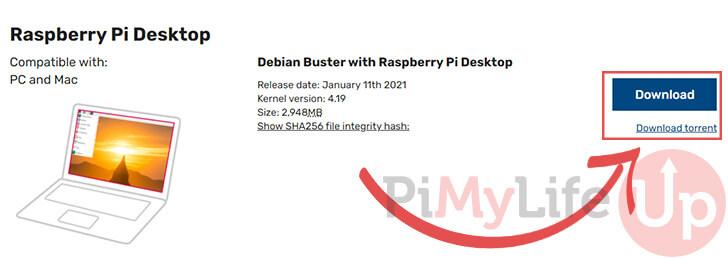 Downloading Raspberry Pi Desktop for VirtualBox