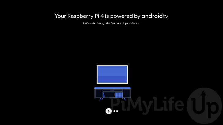 Raspberry Pi Android TV Welcome Screen