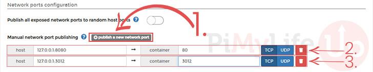 Assign Bitwarden Container Ports