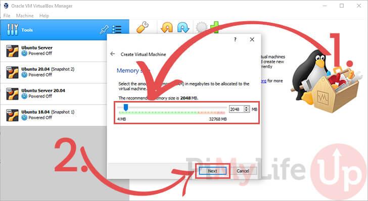 Choose Memory Size for VM