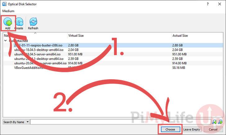 Choose Raspberry Pi Desktop Image for VirtualBox