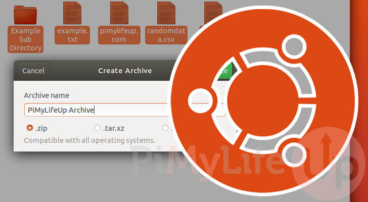 Ubuntu Zip Files and Folders