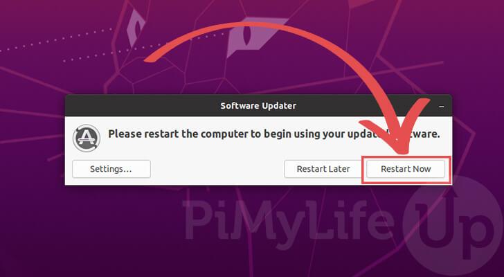 Restart to finish update process