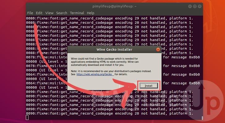 Install Gecko for Wine on Ubuntu