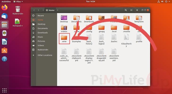 Open Hidden wine directory on Ubuntu