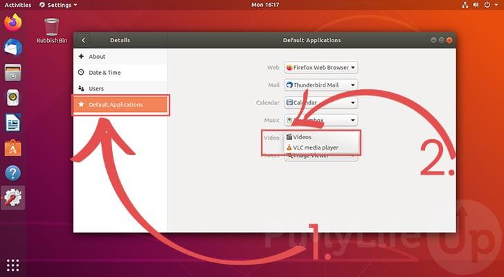 Set Default Applications for Ubuntu 18.04