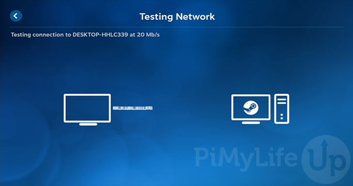 Raspberry Pi Completing Steam Link Network Test