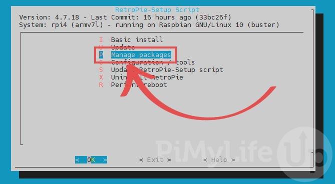 Manage Packages using the RetroPie-Setup script
