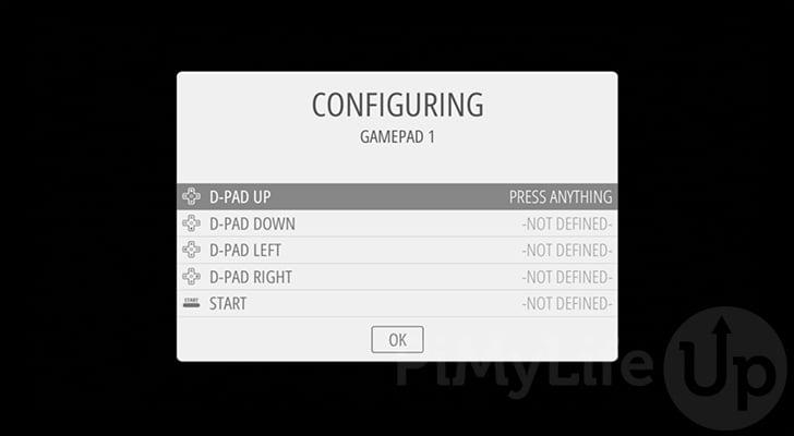 Configure gamepad controls